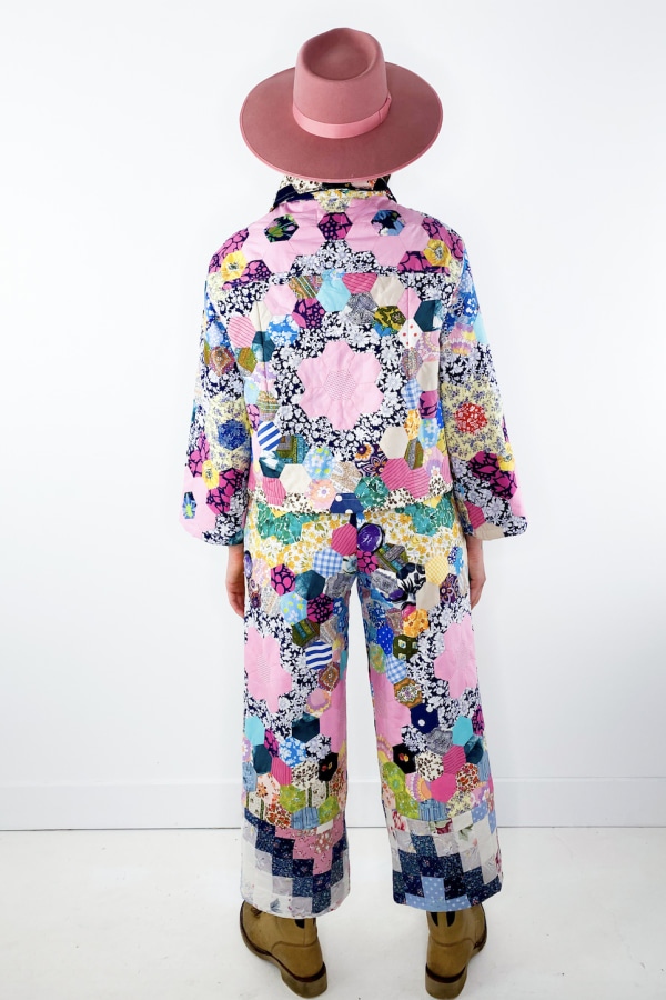 Image 4 of Magpie Vintage 1970's patchwork trousers