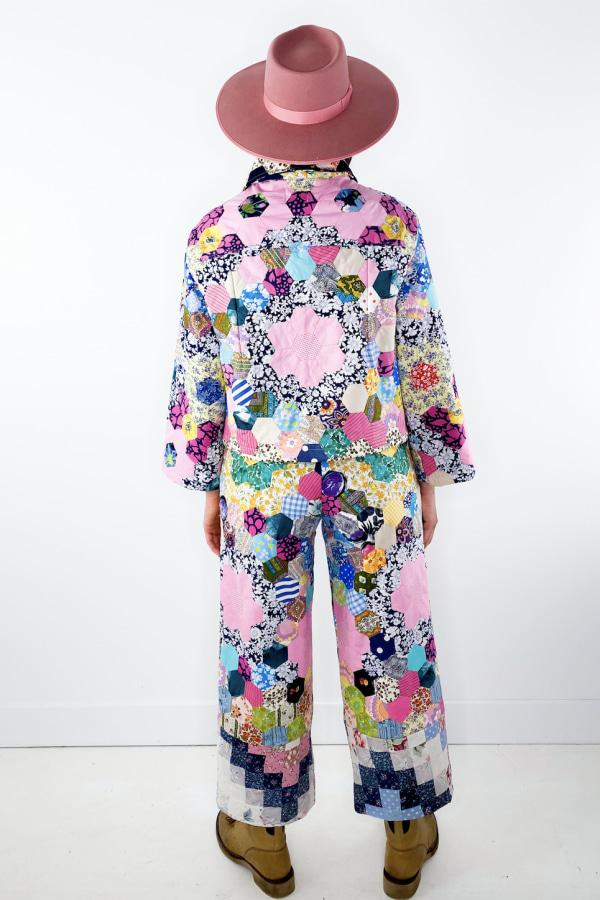 Image 4 of Magpie Vintage 1970's patchwork jacket