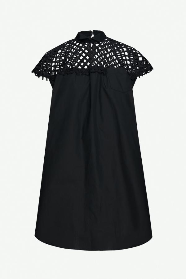 Sacai Woven Mesh Dress