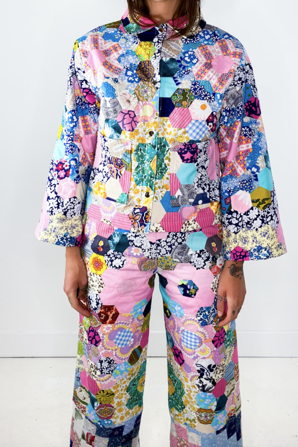 Image 5 of Magpie Vintage 1970's patchwork trousers