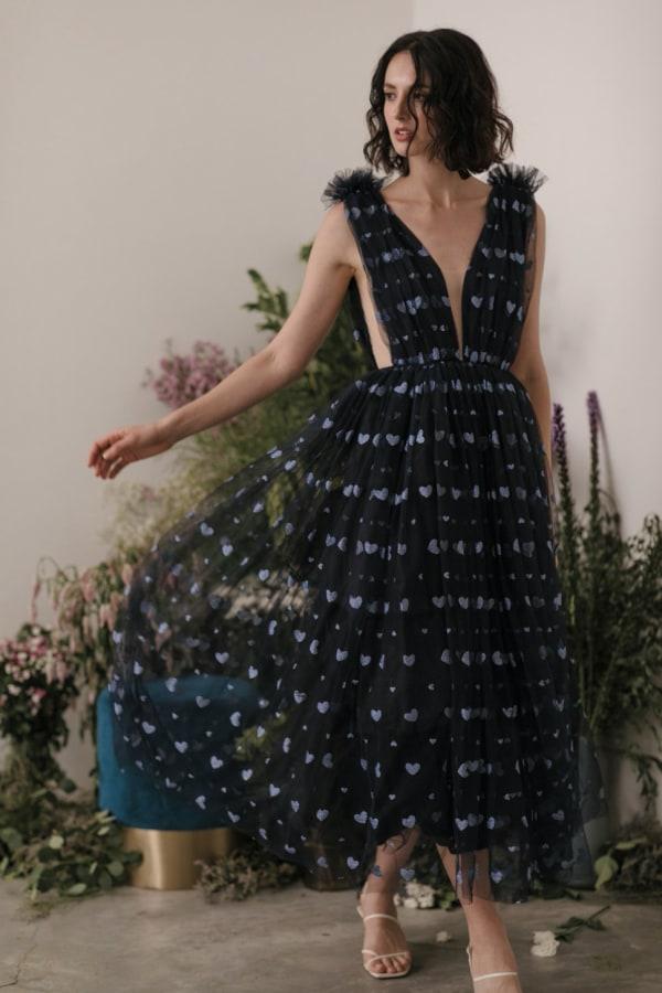 Image 3 of Sau Lee heather heart tulle dress