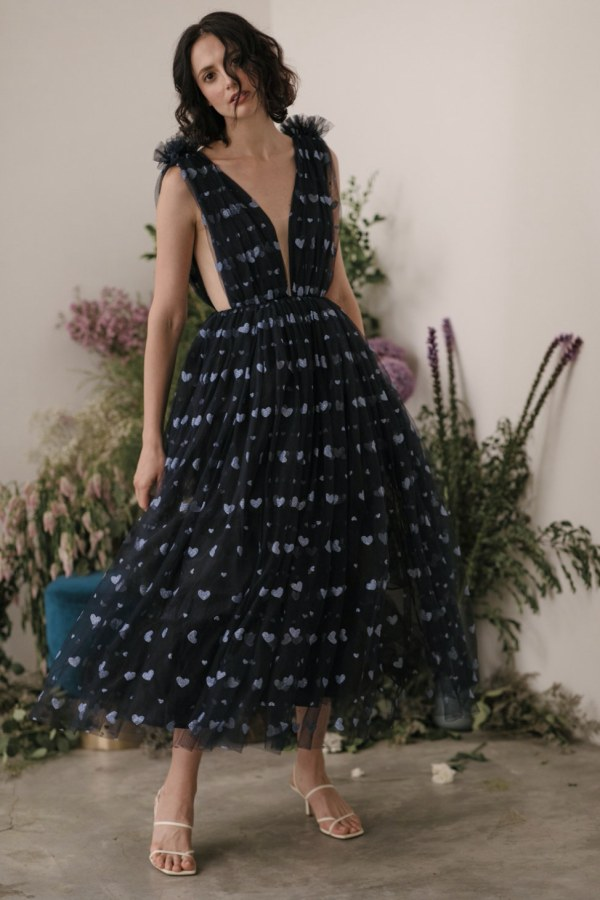 Image 1 of Sau Lee heather heart tulle dress