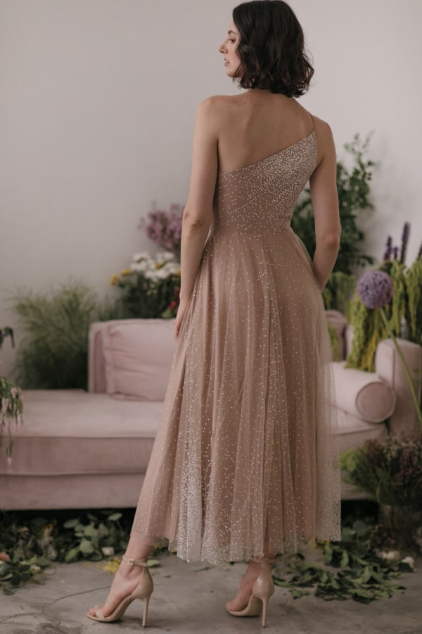 Image 2 of Sau Lee blanche ombre tulle midi dress