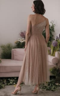 Sau Lee Blanche Ombre Tulle Midi Dress 3 Preview Images
