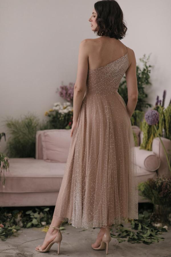 Sau Lee Blanche Ombre Tulle Midi Dress 3