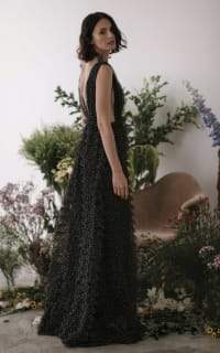 Sau Lee Catherine Polka Ruffle Gown 5 Preview Images