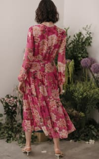 Sau Lee Faith Silk Chiffon Dress 3 Preview Images