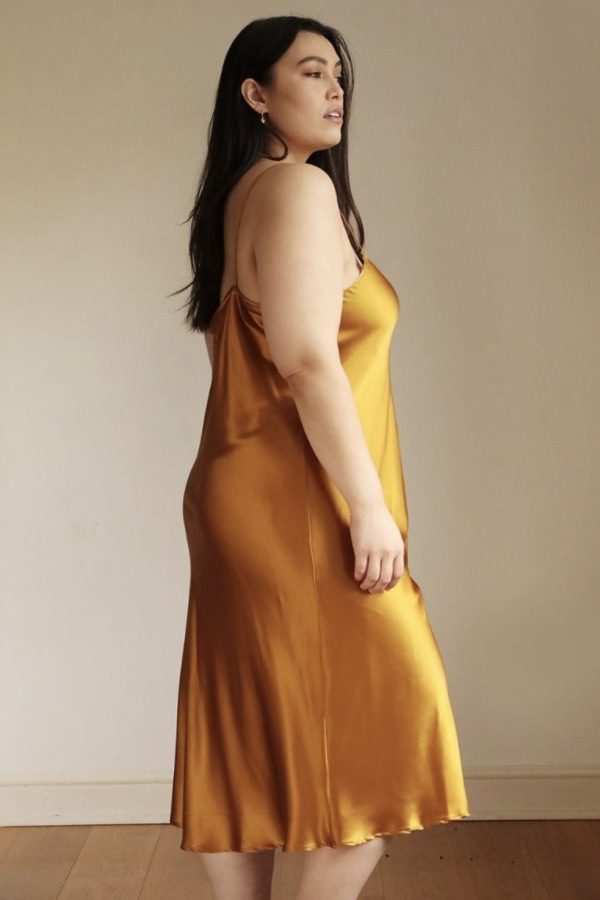Image 3 of Lora Gene silk slip dress