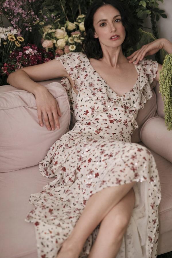 Image 2 of Sau Lee nicole sequin dress
