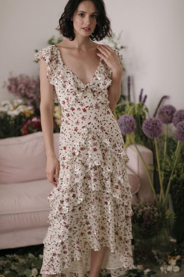 Image 4 of Sau Lee nicole sequin dress