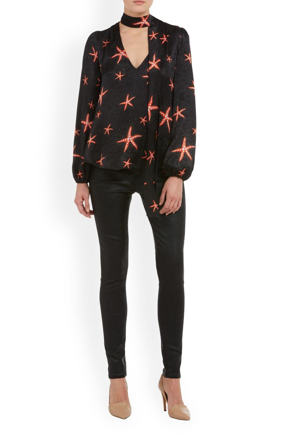 RIXO London Moss – Starfish Black Coral 2