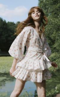 Maia Bergman Ines Rose Mini Dress 4 Preview Images
