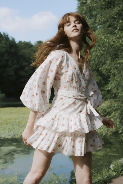 Maia Bergman Ines Rose Mini Dress 4