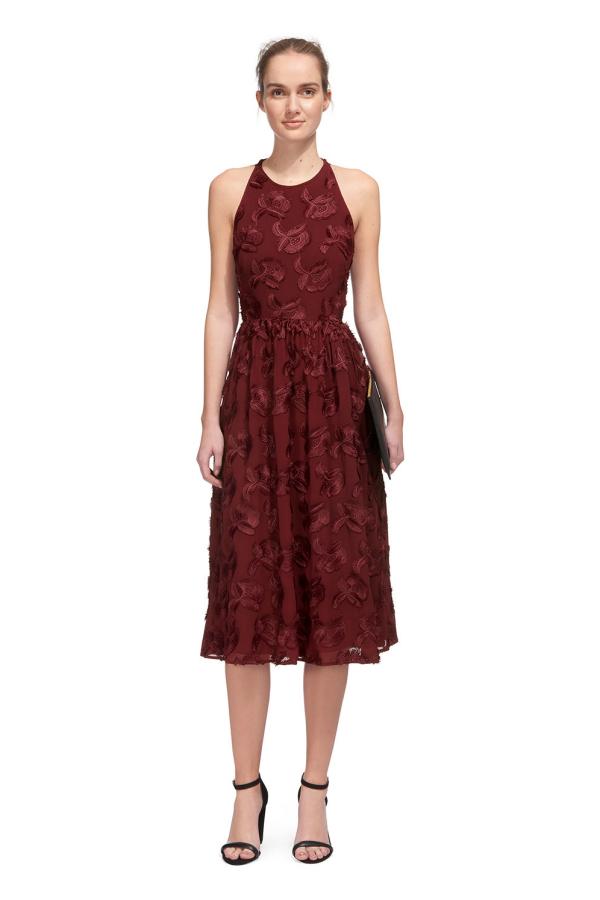 Whistles Appliqué Textured Dress 3