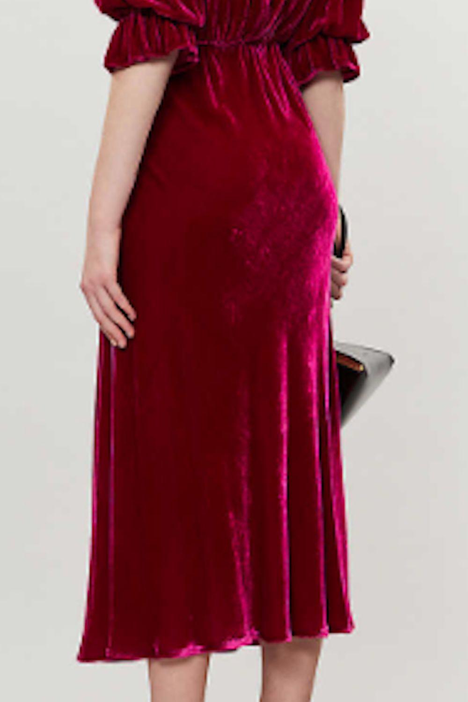 Ghost Gracie V Neck Velvet Dress 5 Preview Images