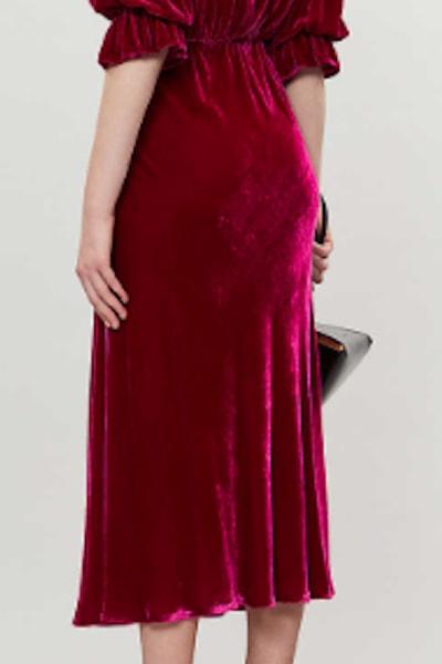 Ghost Gracie V Neck Velvet Dress 5
