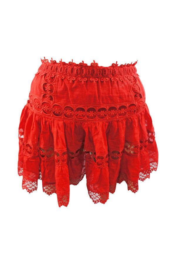 Image 2 of Charo Ruiz Ibiza greta tiered guipure lace skirt