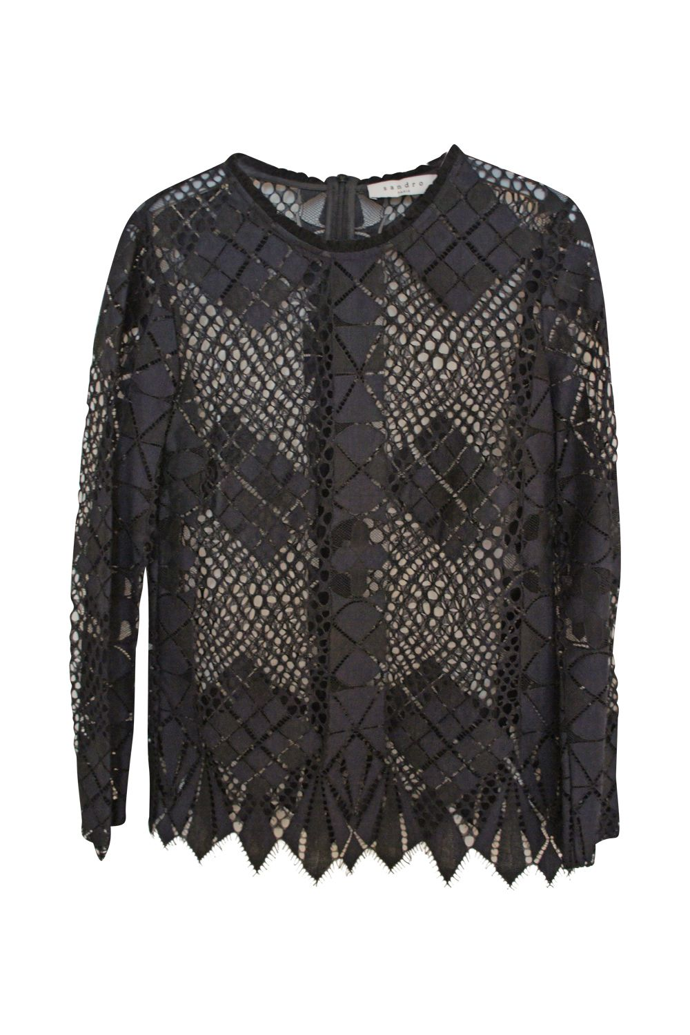 Sandro Long Sleeve Black Blouse Preview Images