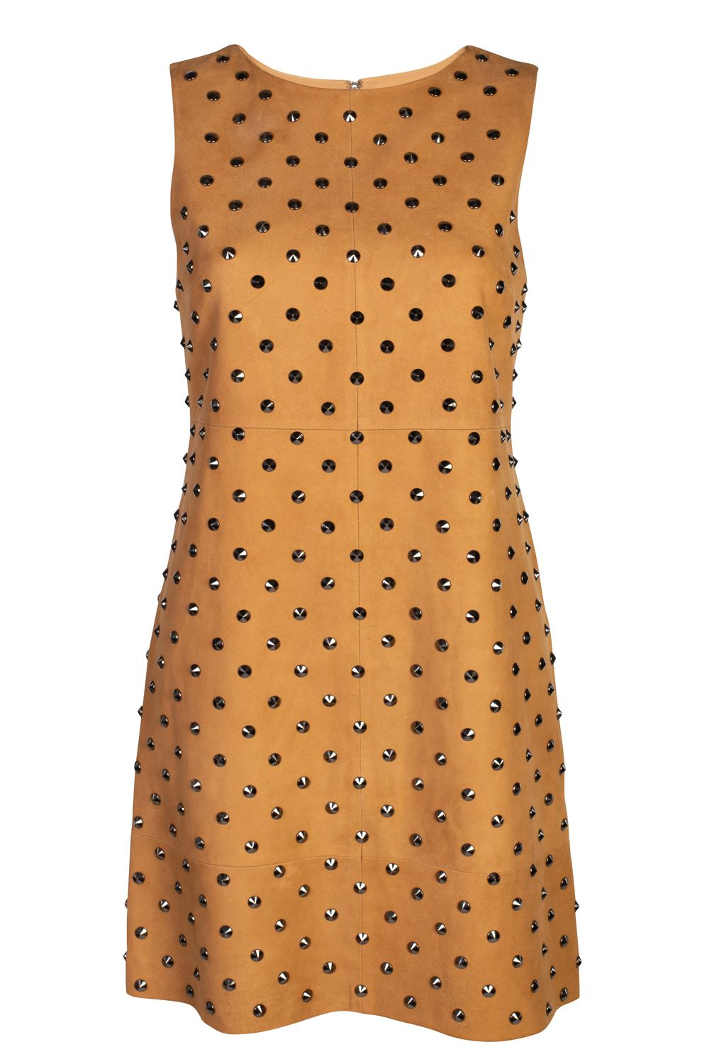 Alice + Olivia Clyde Studded Suede Dress 5 Preview Images