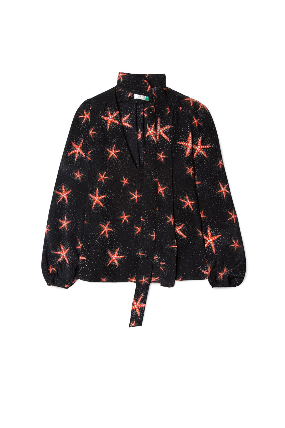RIXO London Moss – Starfish Black Coral