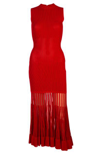 Alexander McQueen Mesh-paneled ribbed dress 9 Preview Images