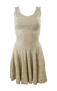 Alaïa Gold Gold-Tone Mini Dress 6 Preview Images