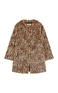 Gerard Deral Mischa Faux Fur Leopard Coat Preview Images