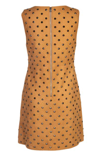 Alice + Olivia Clyde Studded Suede Dress 4 Preview Images