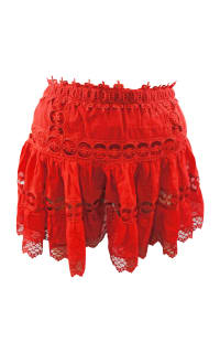 Charo Ruiz Ibiza  Greta Tiered Guipure Lace Skirt  2 Preview Images