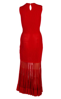 Alexander McQueen Mesh-paneled ribbed dress 7 Preview Images