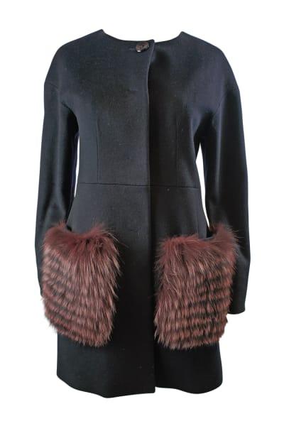 Cinzie Rocca Fur Trip Coat 2