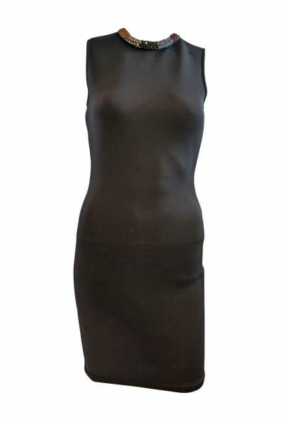 Alexander McQueen Black Sleeveless Beaded dress 4