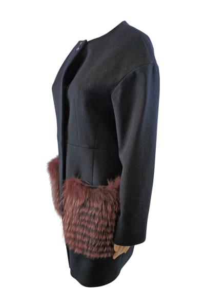 Cinzie Rocca Fur Trip Coat