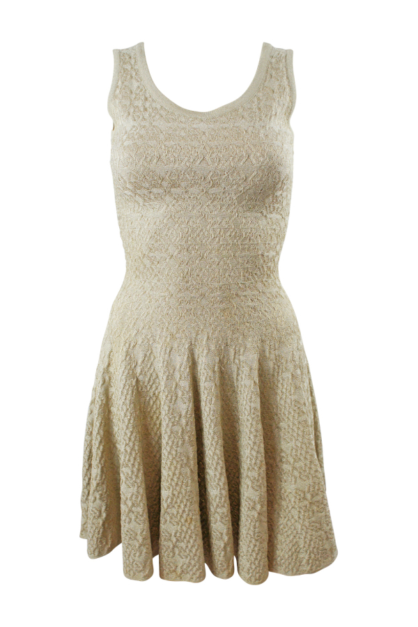 Alaïa Gold Gold-Tone Mini Dress 6