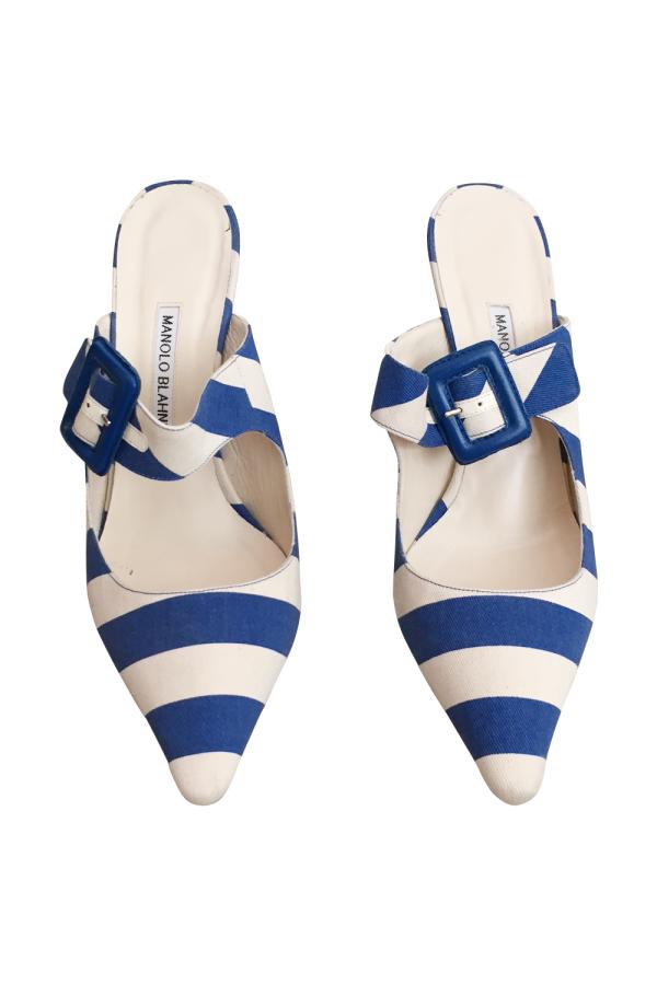Manolo Blahnik Stripe Heel 2