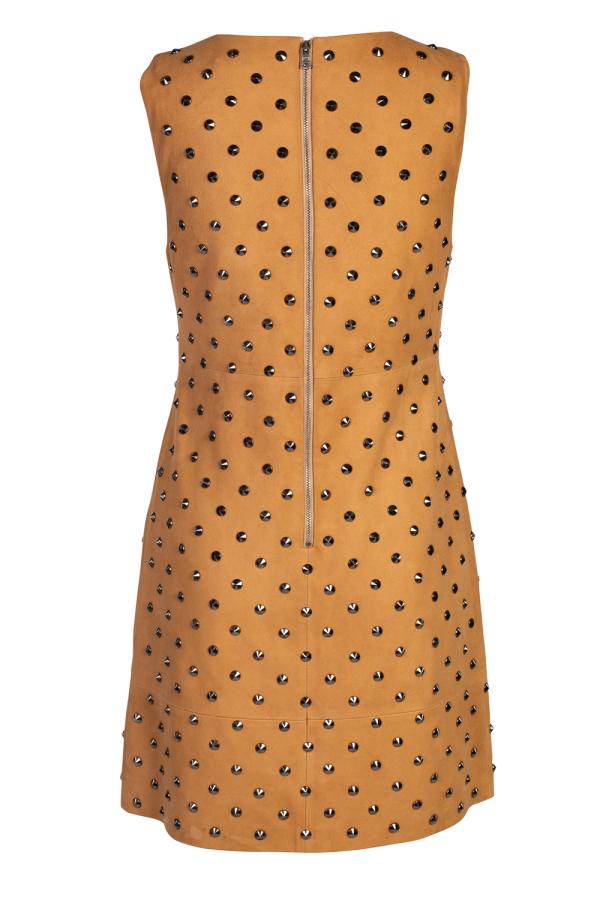 Alice + Olivia Clyde Studded Suede Dress 4