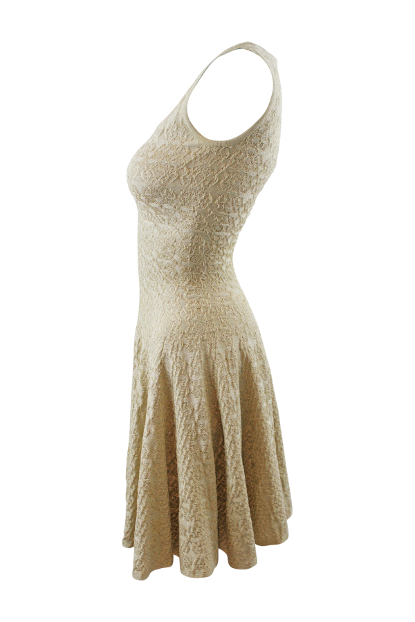 Alaïa Gold Gold-Tone Mini Dress 4