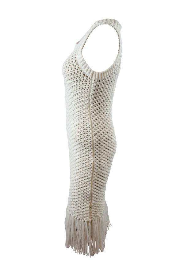Michael Kors Fringe Trim Cotton-Blend Knit Dress 2