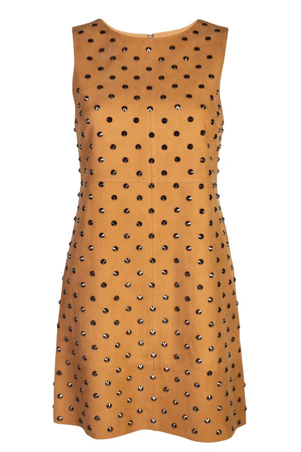 Alice + Olivia Clyde Studded Suede Dress 5
