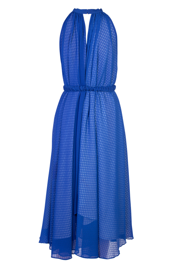 Saloni Iris Halterneck Dress 3
