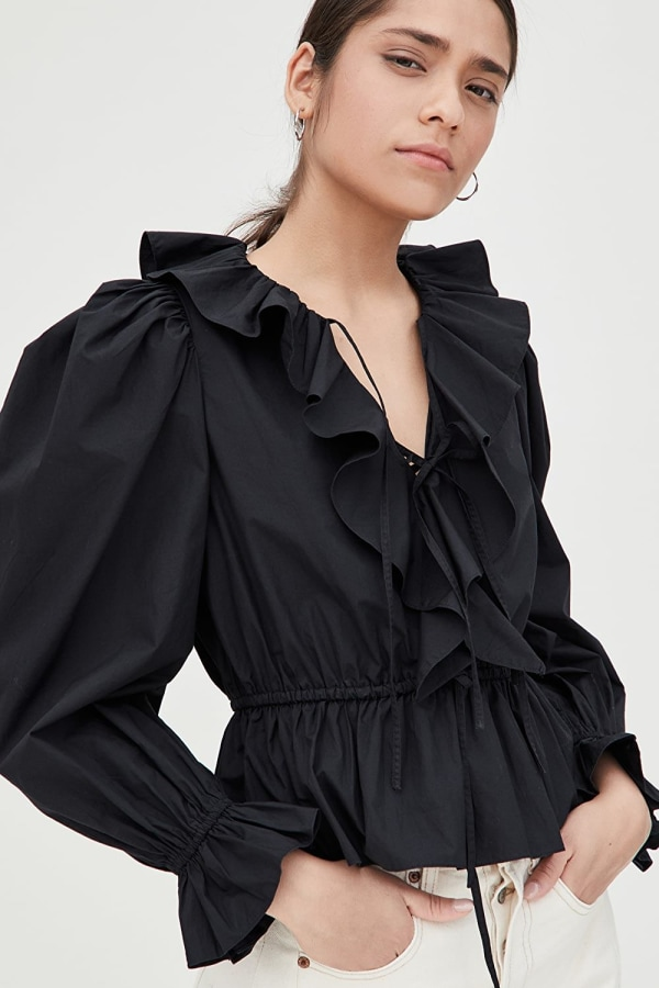 Image 5 of Ulla Johnson kalila ruffled blouse