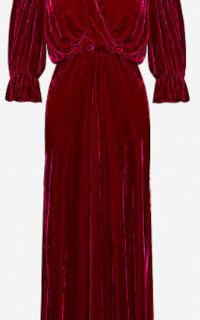 Ghost Gracie V Neck Velvet Dress 4 Preview Images