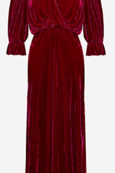 Ghost Gracie V Neck Velvet Dress 4