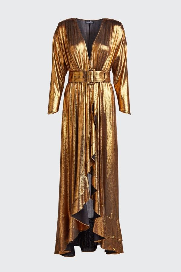 Image 3 of Retrofête wayne metallic belted dress
