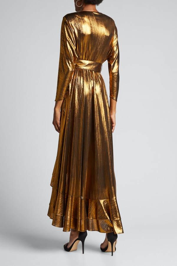 Image 2 of Retrofête wayne metallic belted dress