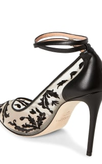 Alexander White Black Brianna Embroidered Mesh 3 Preview Images