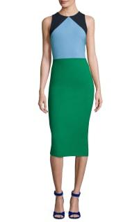 Diane Von Furstenberg Colour block midi dress 2 Preview Images