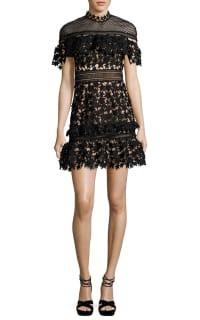 Self Portrait Yoke Frill Star Mini Dress 5 Preview Images
