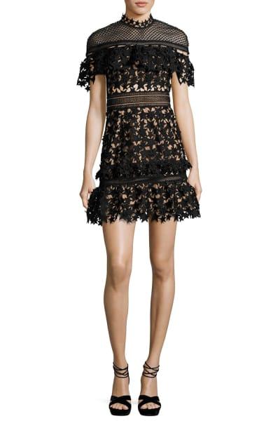 Self Portrait Yoke Frill Star Mini Dress 5