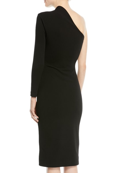 Solace London Ambre One-Shoulder Midi Dress